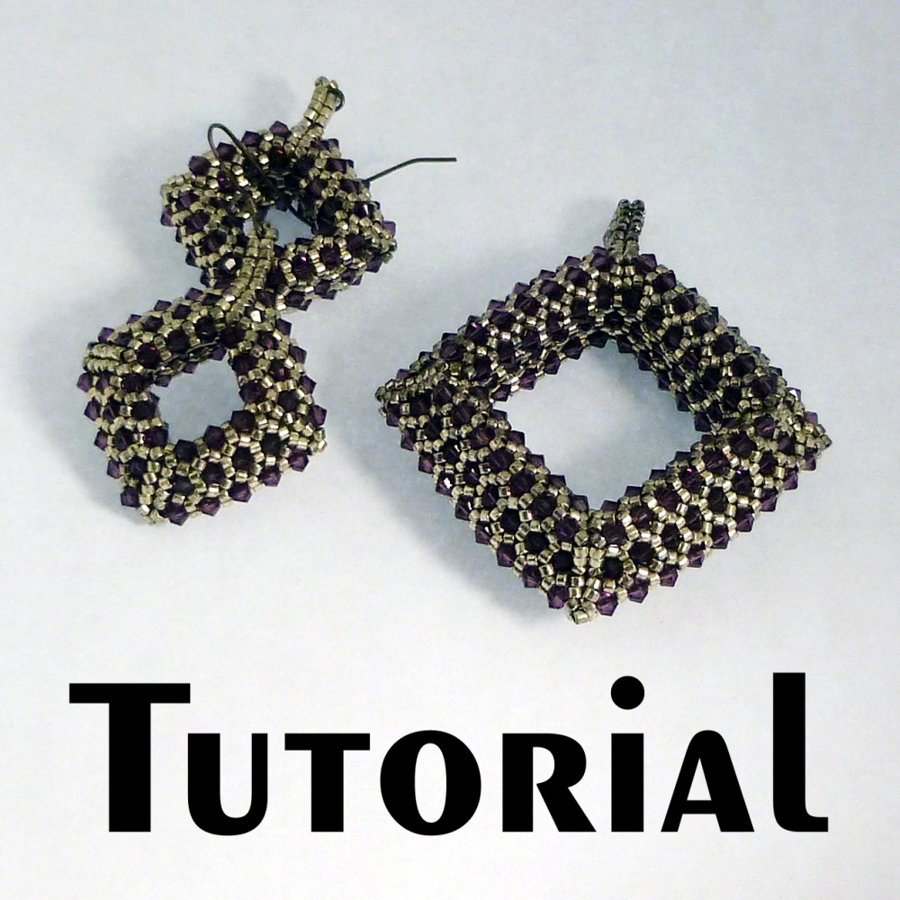 Tutorial Beaded Pave Square Donut Pendant And Earrings